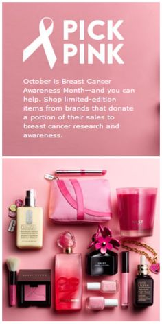 October is Breast Cancer Awareness Month—and you can help. Shop limited-edition items from brands that donate a portion of their sales to breast cancer research and awareness.