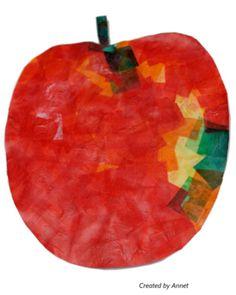 Appel - beplakt met kleine stukje vloeipapier