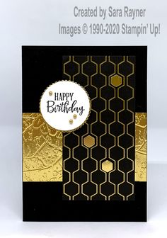 Birthday card using the Stone embossing folder from the Power of Hope bundle and Golden Honey DSP. Birthday Cards For Men, Male Birthday, Birthday Ideas, Art Journal Tutorial, Embossing Techniques, Birthday Sentiments, Golden Honey, Bee Cards, Anna Griffin Cards