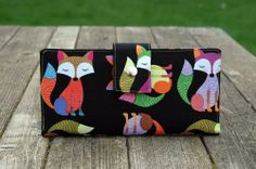 Handmade #Vegan Womens #Wallet with Multicolored #Foxes #MadeinUSA $120