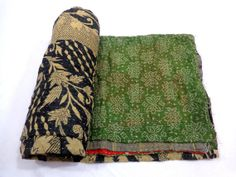 Antique Reversible Kantha Quilt Indian Gudari by FederalExports, $54.99