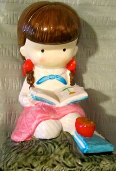 Vintage Joan Walsh Anglund figure ceramic figurine. $10.00, via Etsy.