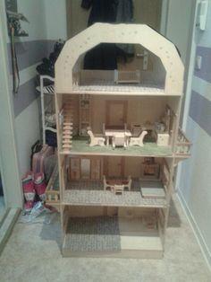 Puppenhaus 4 Etagen selbst gebaut mit Puppenmöbel alles aus Sperrhollz nur Abholung mgl in Mitte, Eisenhüttenstadt wird angeboten auf Stuffle - Stuffle.it