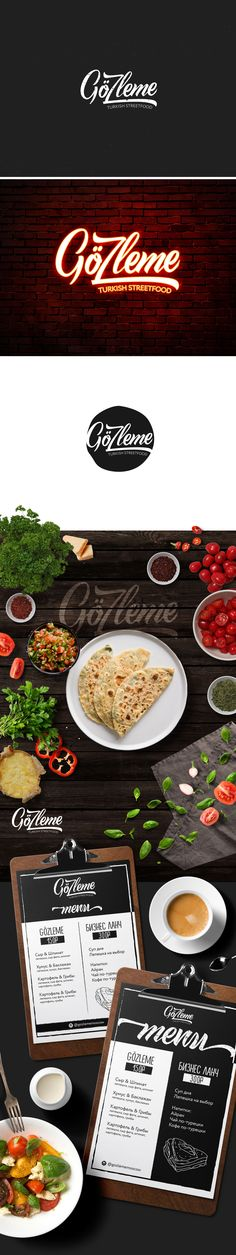 "the logo of the restaurant ""Gözleme""  #logo #menu #restaurant #logotip #design #designer #manualfont"