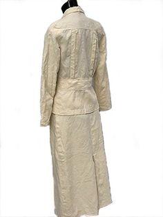 Early 1930s dress . 30s linen suit . art deco by bonitalouise