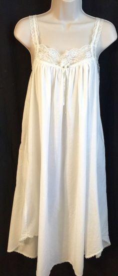 VTG Victoria's Secret Nightgown SZ Small White Cotton Lace Trim 80s Gold Label    eBay
