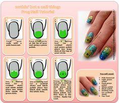 frog nail art tutorial