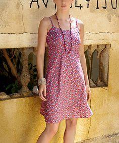 This Pink Dot Sleeveless Dress is perfect! #zulilyfinds