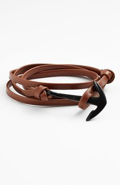 Miansai Enamel Anchor Leather Bracelet available at #Nordstrom