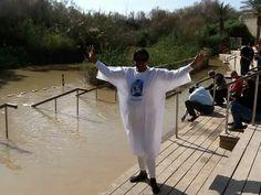 Pam baptized in the Jordan river