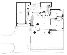 Around the Columns, Rudolf Olgiati, Einfamilienhaus R. Bruengger, Elsau/Winterthur. (Aus Boga, T., Die Architektur von Rudolf Olgiati, Birkhäuser)