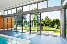 NanaWall SL80/81 Folding Series custom-made aluminum-frame glass-door system