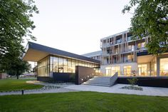 Image 1 of 17 from gallery of Medical Resort Bad Schallerbach / Architects Collective ZT-GmbH (AC). Photograph by Hertha Hurnaus Healthcare Architecture, Ground Floor, Bad, Facade, Health Care, Villa, Architects, Medical, Exterior