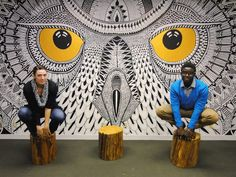 HootSuite boardroom mural.