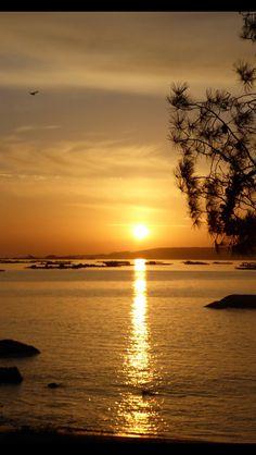 Puesta de sol en Arousa #galicia Spain