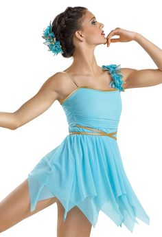 Shirred Mesh Lyrical Dress; Weissman Costumes