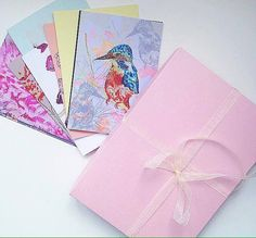Gift Box of 9 Illustrated Cards  Animal  Floral  by BlossomAndIvy
