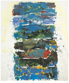 Joan Mitchell, same colours as madonna and child...