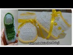 Botinha de Croche Para Bebe - YouTube