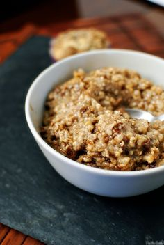 Overnight Apple-Cinnamon Oatmeal  from The Yummy Life  Ingredients:  2 apples, peeled, cored, cut into 1/2-inch pieces (2-1/2 to 3 cups chopped)  1-1/2 cups fat-free milk  1-1/2 cups water 1 cup uncooked steel-cut oats  2 tablespoons brown sugar  1-1/2 tablespoons butter, cut into 5-6 pieces  1/2 teaspoon cinnamon  2 teaspoons ground flax seed  1/4 teaspoon salt  Optional garnishes: chopped nuts, raisins, maple syrup, additional milk or butter