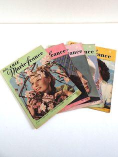 Magazines vintage 1947 lot de 5 Marie France no 124 par BrocAndPop