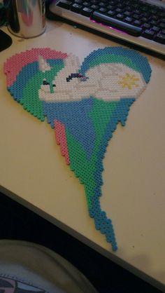 Princess Celestia Hama bead art by BeadingIsMagic