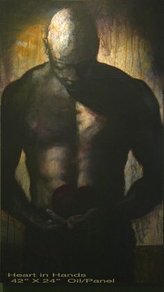 "Heart in Hand by Lance Rodgers  -   oil on panel 42"" x 24"""