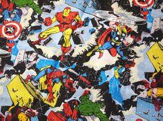 Vintage Marvel Fabric