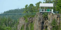 state of the art zipline platform, safety gear and technology