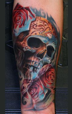 gettattoosideas.com Supreme Skull Rose Tattoos (17)