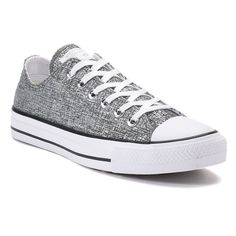 Women's Converse Chuck Taylor All Star Ox Sparkle Knit Sneakers, Size: 10, Grey