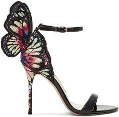 SOPHIA WEBSTER Black Chiara Sandals. #sophiawebster #shoes #sandals