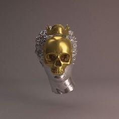 cc @chromedestroyer  #skulls #transgress #filtergrade #digitalart #3d #c4d #photoshop #art #cinema4d by frannnn_