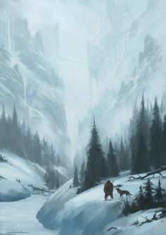 Winter, Todor Hristov on ArtStation at https://www.artstation.com/artwork/Bv6Ar