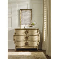 Hooker Furniture Sanctuary Three Drawers Bombe Chest 3028-85001 $ 1,299.00