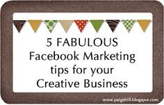 Five great marketing tips for your creative business Craft Business, Home Based Business, Creative Business, Business Tips, Facebook Marketing, Business Marketing, Social Media Marketing, Content Marketing, Internet Marketing