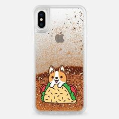 Casetify iPhone X Liquid Glitter Case - Tacos Corgi by Mint Corner #iphone8case, #iphoneaccessories,