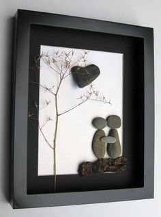 Personalized Engagement Gift and Unique Couples Art - Pebble Art on Etsy, $60.00 CAD