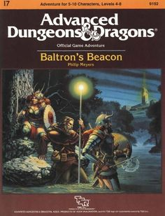 I7 Baltron's Beacon (1e) | Book cover and interior art for Advanced Dungeons and Dragons 1.0 - Advanced Dungeons & Dragons, D&D, DND, AD&D, ADND, 1st Edition, 1st Ed., 1.0, 1E, OSRIC, OSR, Roleplaying Game, Role Playing Game, RPG, Wizards of the Coast, WotC, TSR Inc. | Create your own roleplaying game books w/ RPG Bard: www.rpgbard.com