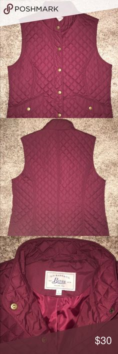 BASS wine colored fall/ winter vest Brand new without tags BASS vest. Very soft material with a quilted pattern! No flaws, was given as gift and isn't my style. Bass Jackets & Coats Vests