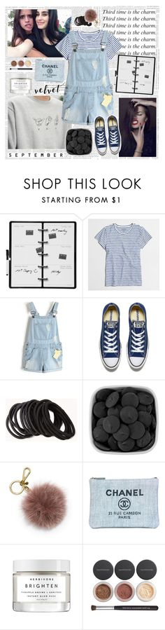 """""""Shut your mouth baby stand and deliver holy hands will make me a sinner like a river"""" by lefty97 ❤ liked on Polyvore featuring Kikkerland, J.Crew, Converse, Forever 21, MICHAEL Michael Kors, Chanel, Herbivore and Bare Escentuals"""