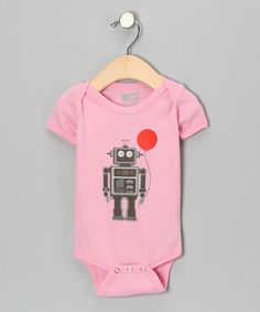 Take a look at this Pink Balloon Bot Organic Short Sleeve Bodysuit - Infant by All Good Living Kids on #zulily today!