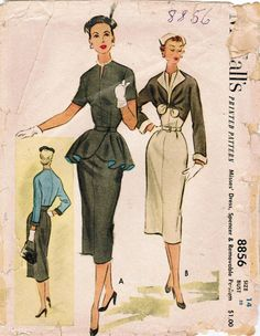 1950s McCall's 8856 Vintage Sewing Pattern by midvalecottage, $18.00