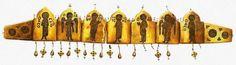 Диадема. 12 век. Золото, жемчуг; перегородчатая эмаль Принадлежала древнеславянской княжне. Киевский клад, Киев, Украина.