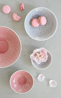 Gorgeous bowls, I love the texture of the delicate pattern #mydreamkitchen @kitchendoorw