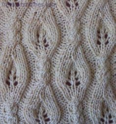 leaf lace knitting stitches