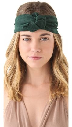 Prettier, I think, with short or pulled up hair. Nice ear wramer! Eugenia Kim Alexis Suede Turban Knot Headband