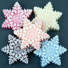 Winter Snowflake Collection Your Choice 4 oz Soap from savor on OpenSky - Christmas stocking stuffers