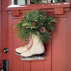 "Bring a ""little Christmas"" to your house in a flash with these ideas for decorating porches, lawns, and walkways with Yuletide cheer."