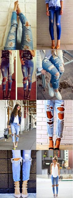 lowbudget-lowcost fashion blog: DIY: ripped jeans, i 3 errori da non fare.